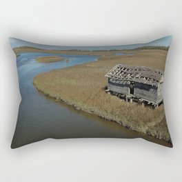 Bald Head Creek Boathouse | Bald Head Island, NC Rectangular Pillow