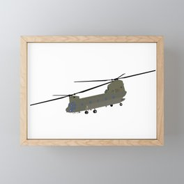 Military CH-47 Chinook Helicopter Framed Mini Art Print
