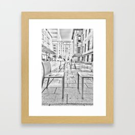 Chairs in San Francisco Framed Art Print