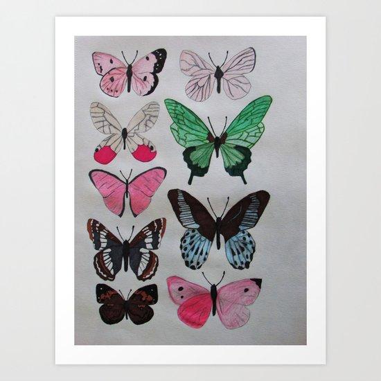 You Give Me Butterflies Art Print