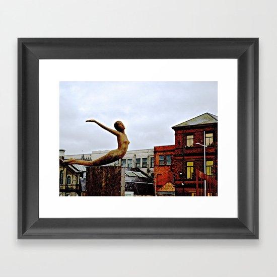 She Flies Across Belfast Framed Art Print