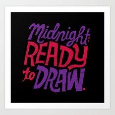 Midnight: Ready to Draw Art Print