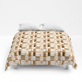 Autumn orange-Cuadricula / Lady Cat™ Comforters