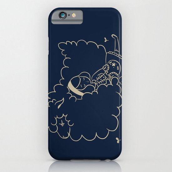 Girl and sheep. iPhone & iPod Case