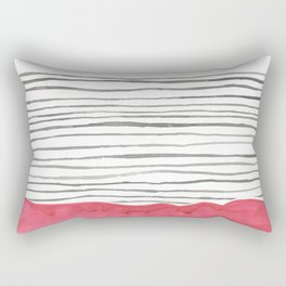 The Bottom Line- RED Rectangular Pillow