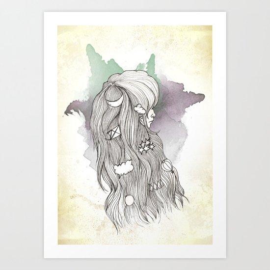 Weather Lady Art Print