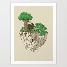 Lonely heart Art Print