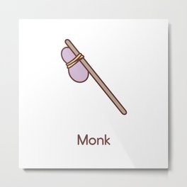 Cue Dungeons and Dragons Monk class Metal Print