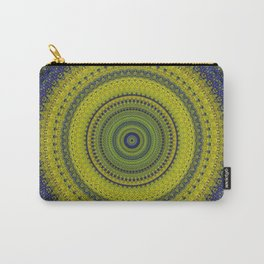 Blue Green Bohemian Mandala Carry-All Pouch