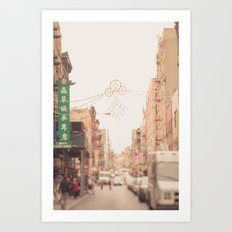 Morning in Chinatown Art Print