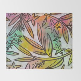 Bright Colorful Jungle Canopy Throw Blanket