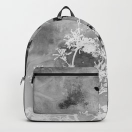 Black and White Watercolor Flowers Backpack