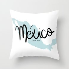 mexico i love you Throw Pillow