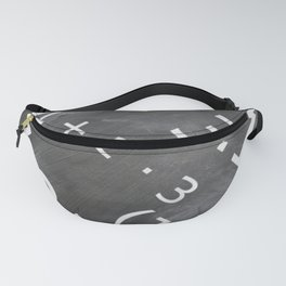 Chalkboard Mathematics Board Fanny Pack