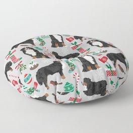 Burnese Mountain Dog christmas holiday festive mitten stockings dog gifts Floor Pillow