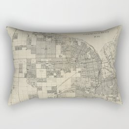 Vintage Map of Tacoma Washington (1907) Rectangular Pillow