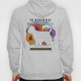 Westie West Highland Terrier seed company dog art illustration by Stephen Fowler Hoody