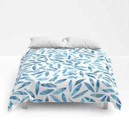 Indigo Summer Botanical Pattern Comforters