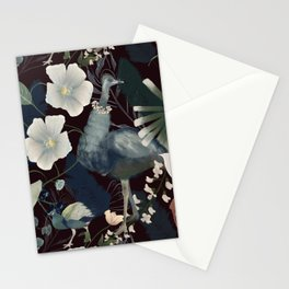 Peacock, ostrich and parrot Stationery Cards