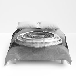 Accessories from old film cameras. Comforters