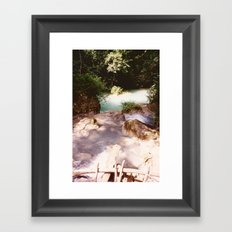 Kanchanburi TH - Erawon Waterfalls  Framed Art Print