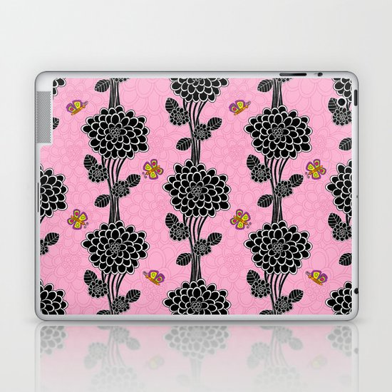Flowered tree. in pink Laptop & iPad Skin