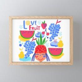 Love fruit! Framed Mini Art Print