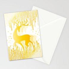 Dancing Deer  - Golden Stationery Cards