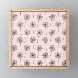Contemporary Flower Dandelion Pattern Framed Mini Art Print