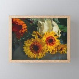 Fall Flowers 2  Framed Mini Art Print