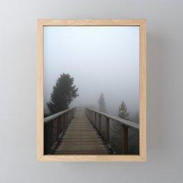 Foggy forest road Framed Mini Art Print