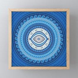 Greek Mati Mataki - Greek Evil Eye ornament Framed Mini Art Print