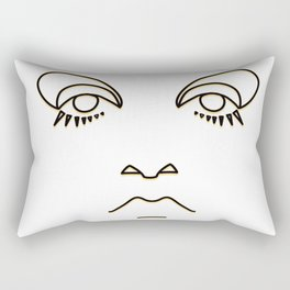 Twiggy in black and yellow Rectangular Pillow
