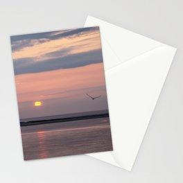 Mauve and Lavender Sunrise Over Monomoy Island Stationery Cards
