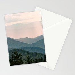 Smoky Mountain Pastel Sunset Stationery Cards