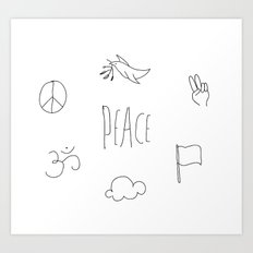 Peace to the world Art Print