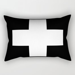 White Swiss Cross Rectangular Pillow