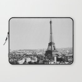 Paris City Sky // Eiffel Tower City Landscape Photography Shot from the top of Champs Elysees France Laptop Sleeve