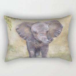 Baby Elephant Rectangular Pillow
