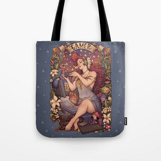 Gamer girl Nouveau Tote Bag