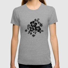 Lilikoi Hibiscus Hawaiian Hula Pareau Design T-shirt
