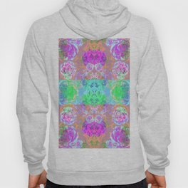 Neon Blossom print  Hoody