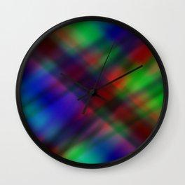 Dark Beams Wall Clock