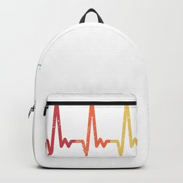 Retro bowling heartbeat vintage ball cone pulse Backpack