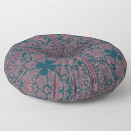 Emerald Gipsy Paisley Floor Pillow