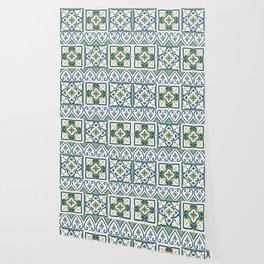 Italian Tile Pattern – Sicilian ceramic from Caltagirone Wallpaper