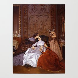 lorde in 'the reluctant bride' by auguste toulmouche, 1866 Poster