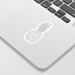 Light Grey Pineapple Sticker