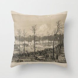 American Civil War: The Battle of Shiloh by Alfred Edward Mathews (1862) Throw Pillow