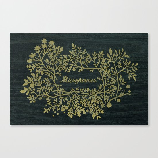 Microfarmer - Gold Canvas Print
